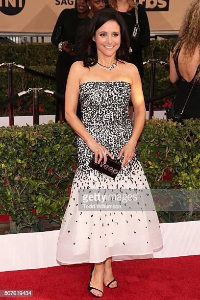 Actress Julia Louis-Dreyfus attends the 22nd Annual Screen Actors Guild Awards at The Shrine Auditorium on January 30, 2016 in Los Angeles,...