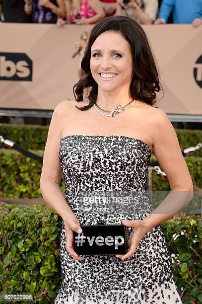 Actress Julia LouisDreyfus attends the 22nd Annual Screen Actors Guild Awards at The Shrine Auditorium on January 30 2016 in Los Angeles California