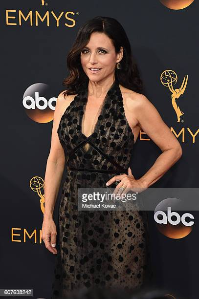 Actress Julia LouisDreyfus attends the 68th Annual Primetime Emmy Awards at Microsoft Theater on September 18 2016 in Los Angeles California