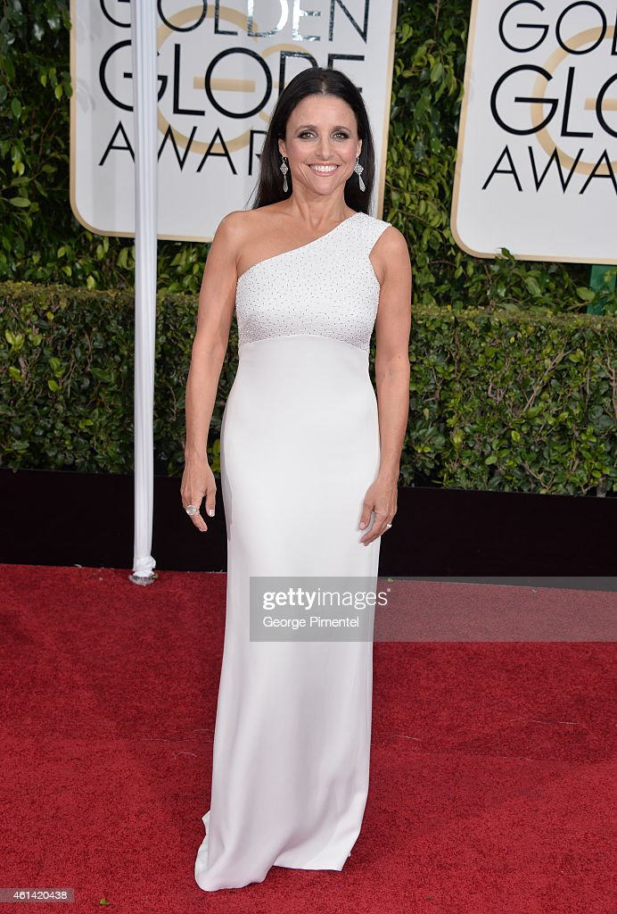Actress Julia Louis-Dreyfus attends the 72nd Annual Golden Globe Awards at The Beverly Hilton Hotel on January 11, 2015 in Beverly Hills, California.