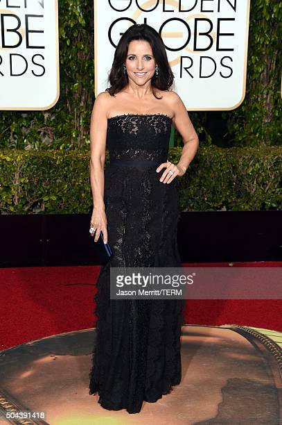 Actress Julia LouisDreyfus attends the 73rd Annual Golden Globe Awards held at the Beverly Hilton Hotel on January 10 2016 in Beverly Hills California