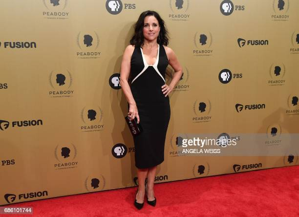 Actress Julia Louis-Dreyfus attends the 76th Annual Peabody Awards ceremony at Cipriani, Wall Street on May 20, 2017 in New York City. / AFP PHOTO /...