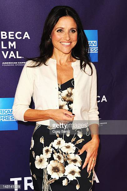 Actress Julia LouisDreyfus attends the Escape Clause Shorts Program during the 2012 Tribeca Film Festival at the AMC Lowes Village on April 19 2012...