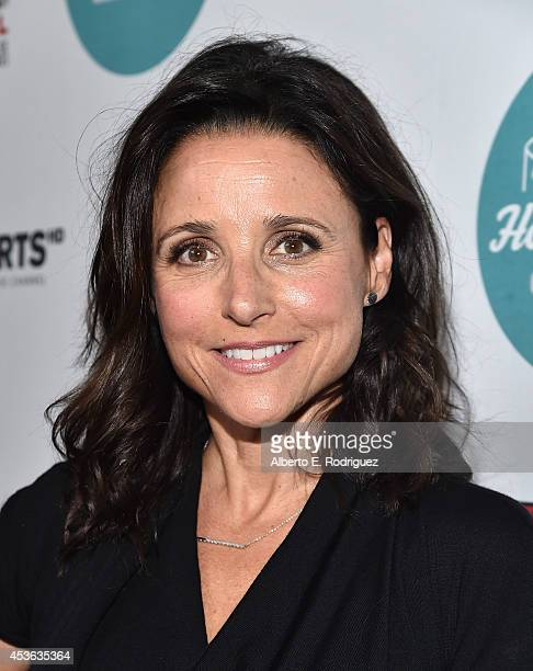 Actress Julia Louis-Dreyfus attends the Hollyshorts 10th Anniversary Opening Night at The TCL Chinese Theatres on August 14, 2014 in Hollywood,...
