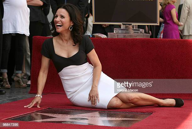 Actress Julia LouisDreyfus attends the Hollywood Walk of Fame ceremony honoring her on May 4 2010 in Hollywood California