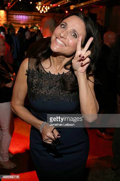 Actress Julia LouisDreyfus attends the Jimmy Kimmel Live and Entertainment Weekly party hosted by Samsung with Ketel One Vodka crafted cocktails on...