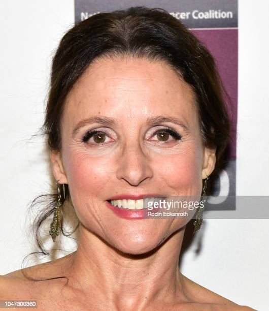 Actress Julia LouisDreyfus attends The National Breast Cancer Coalition's 18th Annual Les Girls Cabaret at Avalon Hollywood on October 7 2018 in Los...