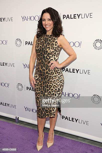 Actress Julia LouisDreyfus attends The Paley Center For Media hosts an evening with the cast of VEEP at Paley Center For Media on April 7 2015 in New...