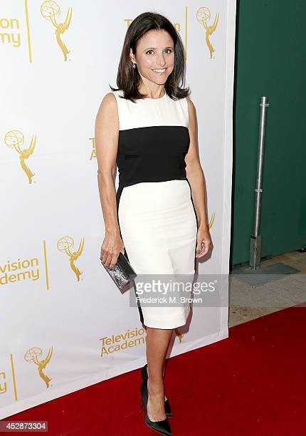 Actress Julia LouisDreyfus attends the Television Academy's Performers Peer Group Celebrates the 66th Emmy Awards at the Montage Beverly Hills Hotel...