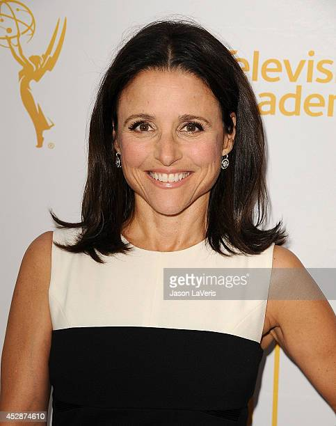 Actress Julia LouisDreyfus attends the Television Academy's performers peer group celebrating the 66th Emmy Awards at Montage Beverly Hills on July...