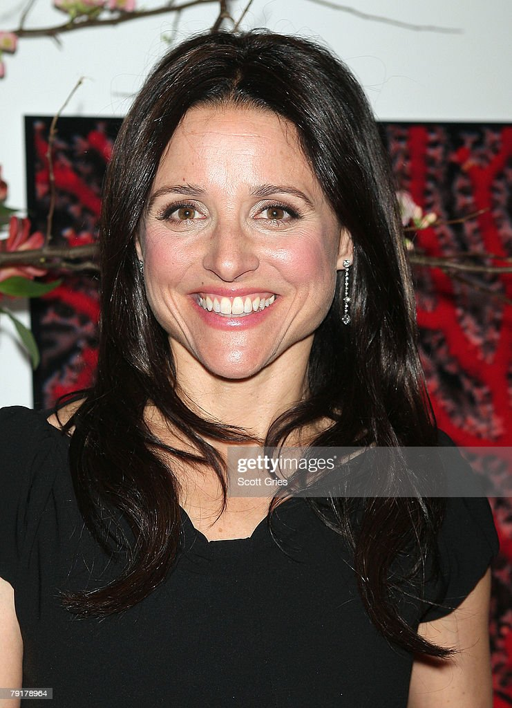 Actress Julia Louis-Dreyfus attends The Tiffany & Co. Foundation's 'Too Precious To Wear' launch to raise awareness of threatened marine animals at MoMA on January 23, 2008 in New York City.