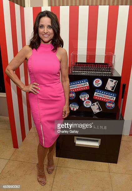 "Actress Julia Louis-Dreyfus attends the Vanity Fair and Maybelline New York toast of the Emmy-Nominated ""VEEP"" on August 22, 2014 in West Hollywood,..."