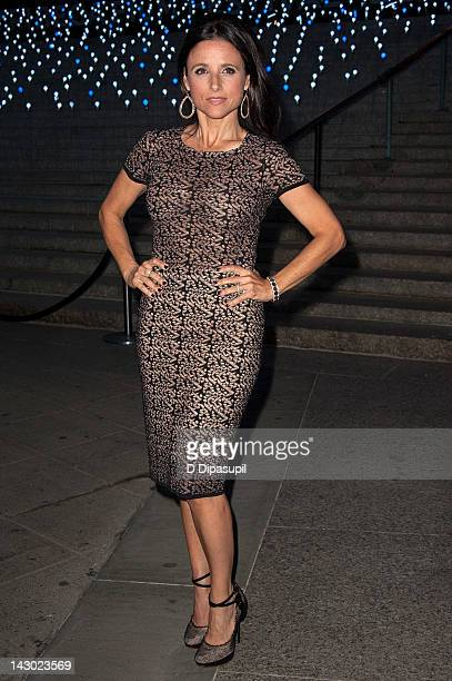 Actress Julia LouisDreyfus attends the Vanity Fair party during the 2012 Tribeca Film Festival at the State Supreme Courthouse on April 17 2012 in...