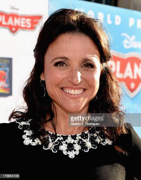 "Actress Julia LouisDreyfus attends the World Premiere of ""Disney's Planes"" at the El Capitan Theatre on Aug 5 in Hollywood California"
