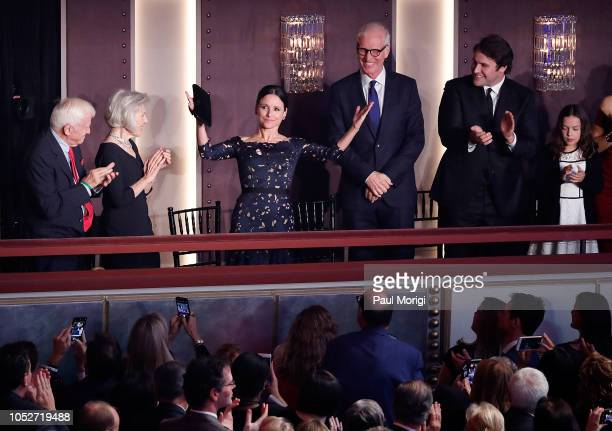 Actress Julia LouisDreyfus is honored at the 21st annual Mark Twain Prize for American Humor at The Kennedy Center on October 21 2018 in Washington DC