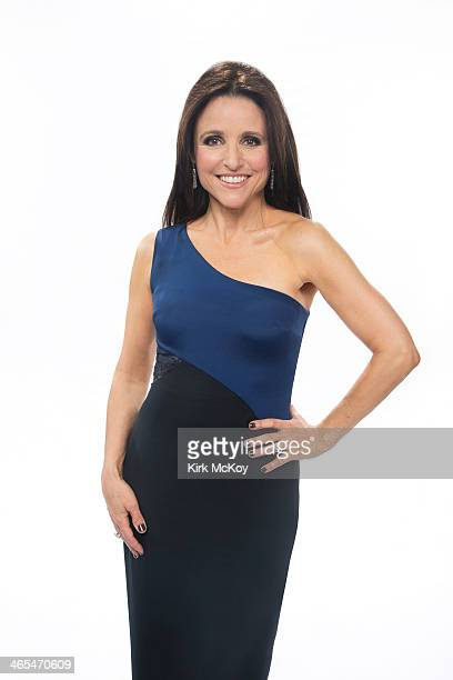 Actress Julia LouisDreyfus is photographed at the SAG Awards 2014 for Los Angeles Times on January 18 2014 in Los Angeles California