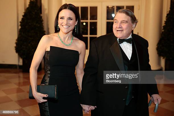 Actress Julia LouisDreyfus left and her father William LouisDreyfus arrive at a state dinner hosted by US President Barack Obama and US First Lady...