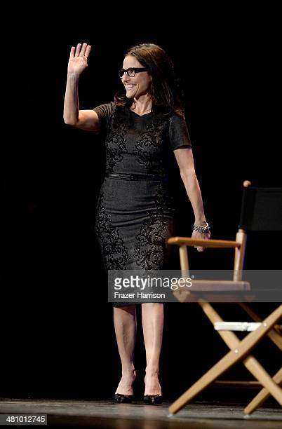 Actress Julia LouisDreyfus on stage at The Paley Center For Media's PaleyFest 2014 Honoring 'Veep' at Dolby Theatre on March 27 2014 in Hollywood...