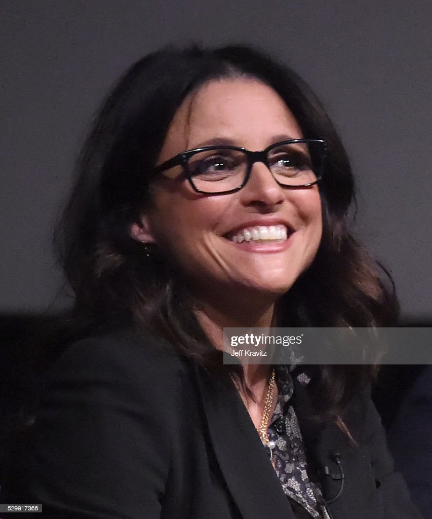 Actress Julia Louis-Dreyfus speaks onstage during 'VEEP' FYC panel at Paramount Studios on May 9, 2016 in Hollywood City.