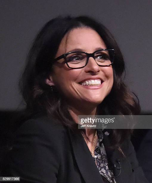 Actress Julia LouisDreyfus speaks onstage during VEEP FYC panel at Paramount Studios on May 9 2016 in Hollywood City