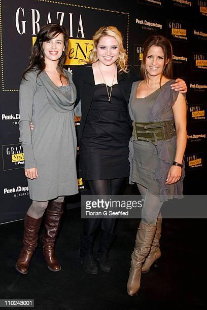 Actress Julia Maria Koeher actress Caroline Frier and actress Vanessa Jung attend the 'GRAZIA Style Night by Peek Cloppenburg' at the Peek...