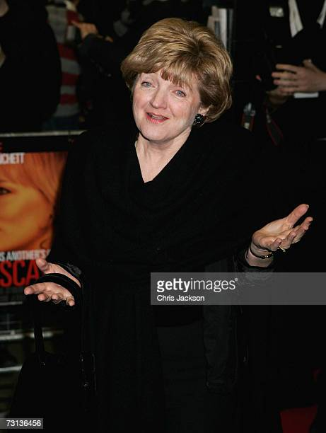 Actress Julia McKenzie arrives at the Notes on a Scandal Gala Screening at the Curzon Mayfair on January 28 2007 in London England