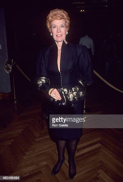 Actress Julia Meade attends the Pratt Institute's Excellence in Design Award Salute to Mark Rosen on November 26, 1990 at Christie's Auction House in...
