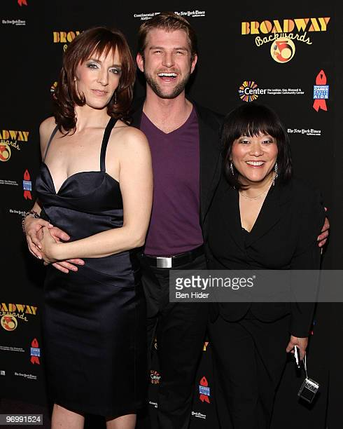 Actress Julia Murney, Actress Ann Harada and Actor Ward Billeisen attend the Broadway Backwards 5 concert at the Vivian Beaumont Theatre at Lincoln...