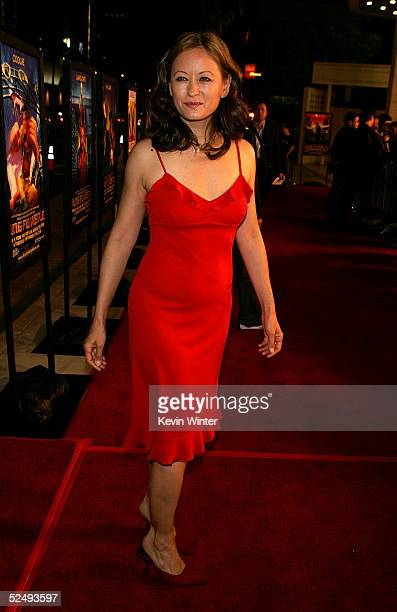 Actress Julia Nickson arrives at the the premiere of Sony Pictures Classics' Kung Fu Hustle at the Cineramadome at the Archlight on March 29 2005 in...