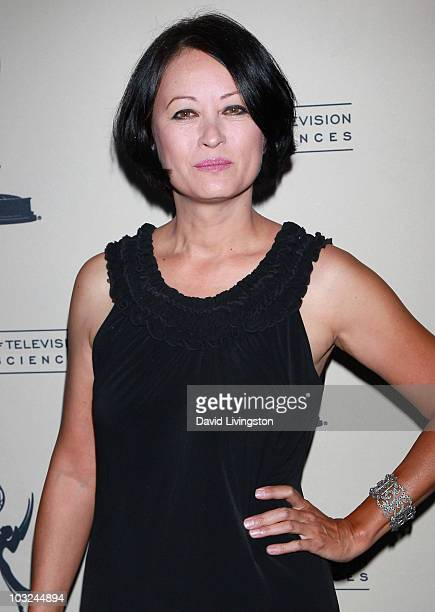 Actress Julia Nickson attends the Academy of Television Arts & Sciences' Performers Peer Group Emmy reception at Chakra on August 4, 2010 in Beverly...