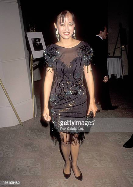 Actress Julia Nickson attends the Asian Pacific American Artists Seventh Annual JIMMIE Awards on March 18 1991 at Beverly Hilton Hotel in Beverly...