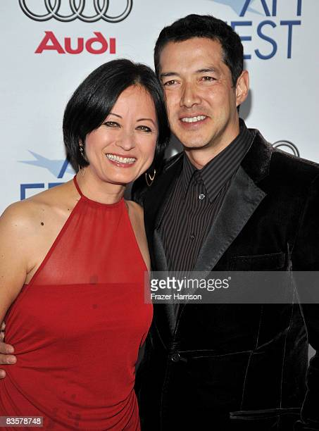 Actress Julia NicksonSoul and actor Russell Wong of Dim Sum Funeral arrive at the 2008 AFI FEST held at Arclight Hollywood on November 5 2008 in...