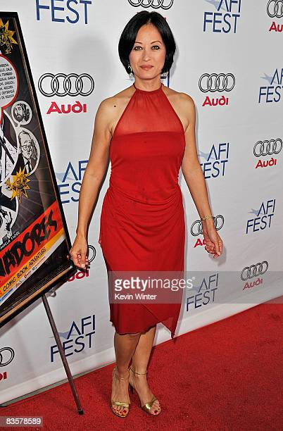 Actress Julia NicksonSoul of the film Dim Sum Funeral arrives at the 2008 AFI FEST held at ArcLight Hollywood on November 5 2008 in Hollywood...