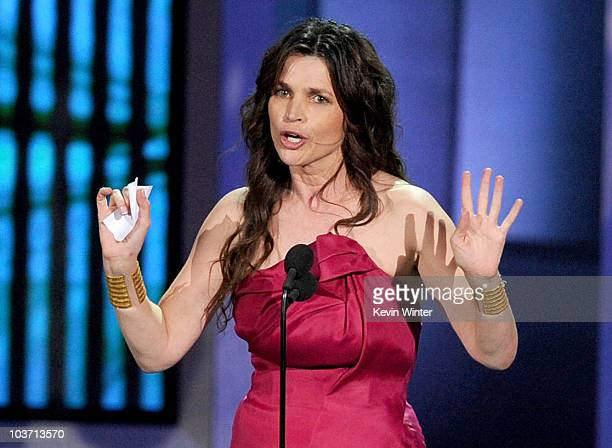 Actress Julia Ormond accepts the Outstanding Supporting Actress in a Miniseries or Movie award onstage at the 62nd Annual Primetime Emmy Awards held...