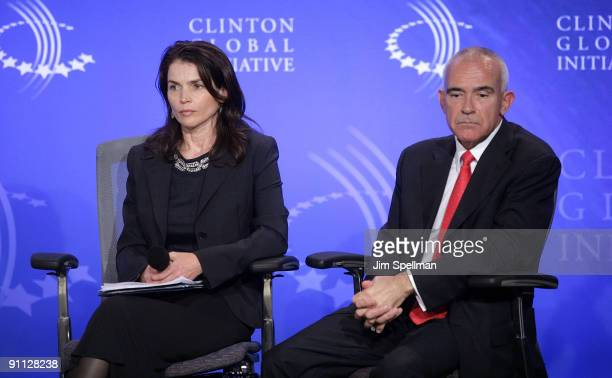 Actress Julia Ormond and President, Global Corporate and Government Affairs, Manpower, David Arkless attend a human trafficking special session...