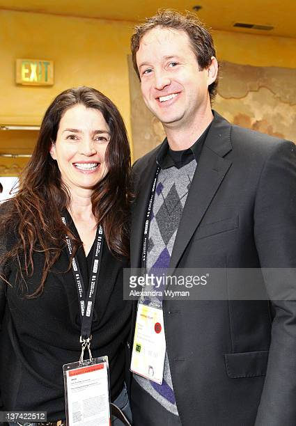 Actress Julia Ormond and Sundance Film Festival Director of Programming Trevor Groth attend the Jury Orientation Breakfast held at Cafe Terigo during...