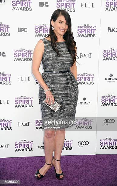 Actress Julia Ormond arrives at the 2012 Film Independent Spirit Awards on February 25 2012 at Santa Monica Pier in Santa Monica California
