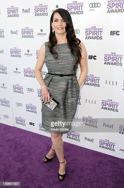 Actress Julia Ormond arrives at the 2012 Film Independent Spirit Awards on February 25 2012 in Santa Monica California