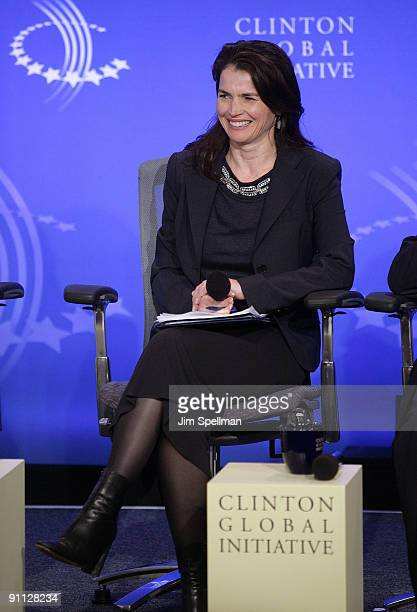 Actress Julia Ormond attends a human trafficking special session during the 2009 Clinton Global Initiative at the Sheraton New York Hotel & Towers on...