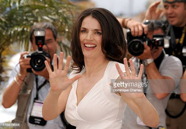 Actress Julia Ormond attends the 'Surveillance' photocall at the Palais des Festivals during the 61st International Cannes Film Festival on May 21...