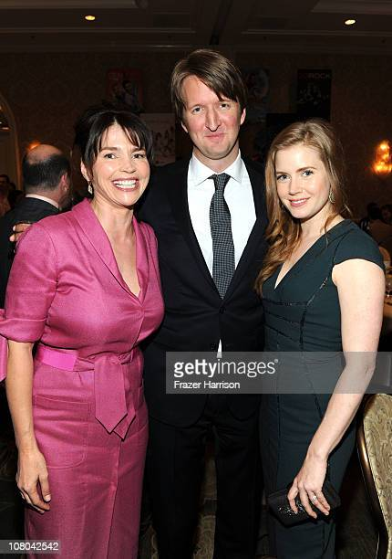 Actress Julia Ormond Director Tom Hooper and actress Amy Adams attend the Eleventh Annual AFI Awards reception at the Four Seasons Hotel on January...