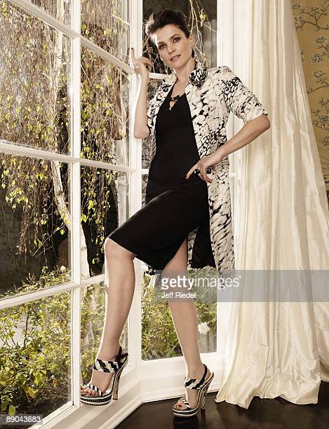 Actress Julia Ormond poses at a portrait session in Los Angeles for More Magazine. Published image.