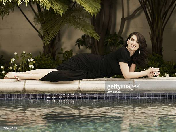 Actress Julia Ormond poses at a portrait session