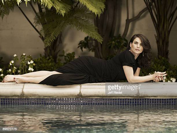 Actress Julia Ormond poses at a portrait session