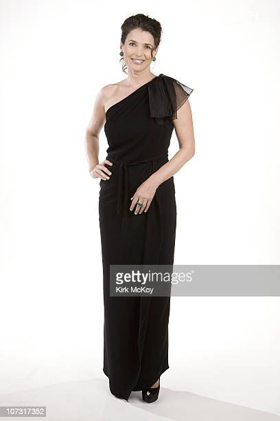 Actress Julia Ormond poses for a portrait session on August 27th 2010 at the Photo booth for the Emmy certificate Reception at the Pacific Design...