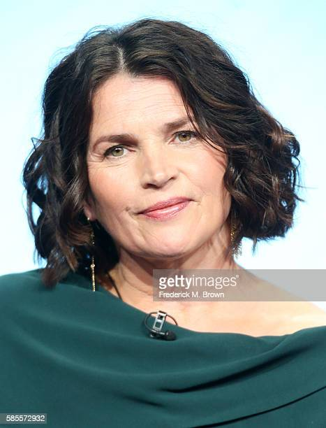 Actress Julia Ormond speaks onstage at the 'Incorporated' panel discussion during the NBCUniversal portion of the 2016 Television Critics Association...