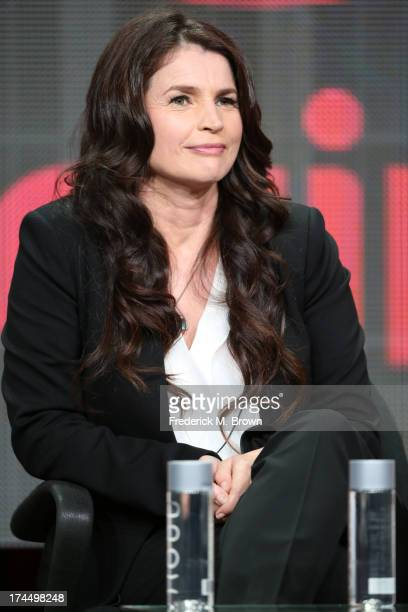 Actress Julia Ormond speaks onstage during the Witches of East End panel discussion at the Lifetime portion of the 2013 Summer Television Critics...