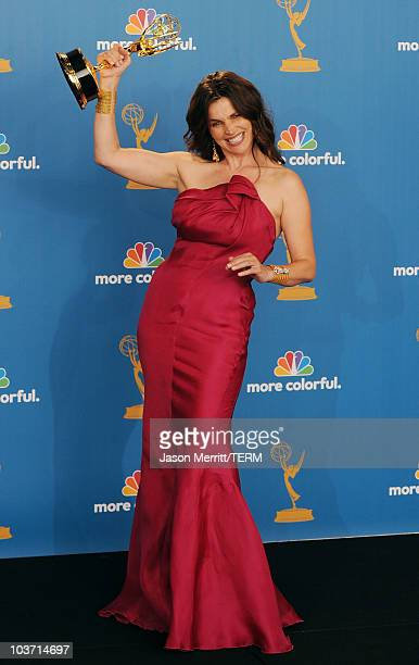 Actress Julia Ormond winner of the Outstanding Supporting Actress in a Miniseries or a Movie Award for Temple Grandin pose in the press room at the...