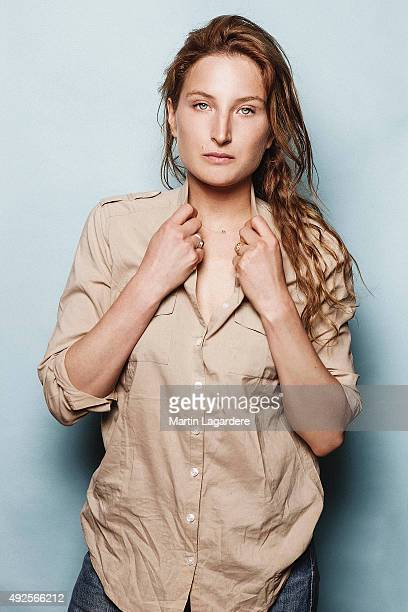 Actress Julia Piaton is photographed for Self Assignment on October 5 2015 in Saint Jean de Luz France