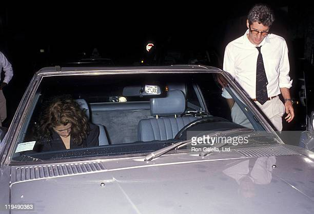 Actress Julia Roberts and actor Richard Gere attend Herb Ritts' 37th Birthday Party on August 12 1989 at a private club in Hollywood California